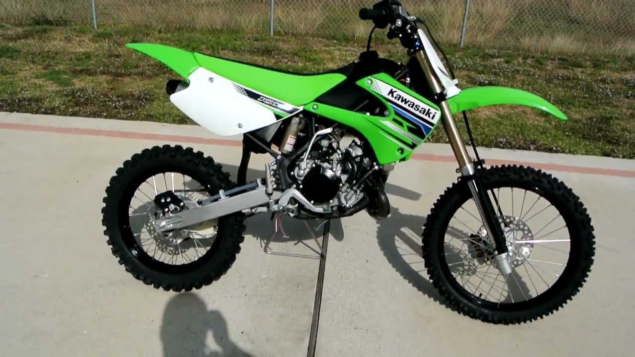 Over view and Review of the 2012 Kawasaki KX100 Motocross Bike - YouTube
