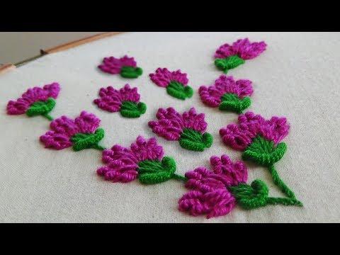 Hand Embroidery: Bullion Lazy Stitch
