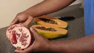 PAPAYA & POMEGRANITE BREAKFAST