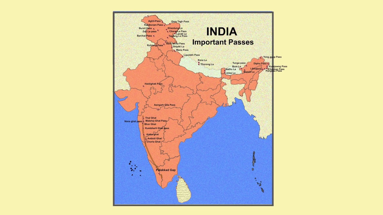 Major Mountain Passes of INDIA