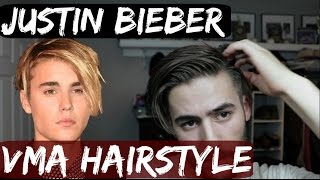 Justin Bieber NEW 2015 Hairstyle Tutorial VMA's | Mens Hairstyle Tutorial
