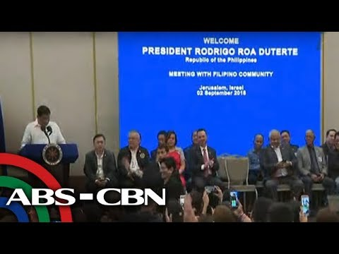 News Now: Israel media barred from covering Duterte meeting with Filipino community