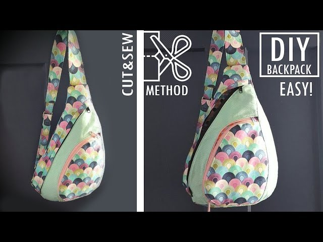 FANTASTIC DESIGN DIY BACKPACK CUT & SEW WAY // Without Difficult Pattern Backpack