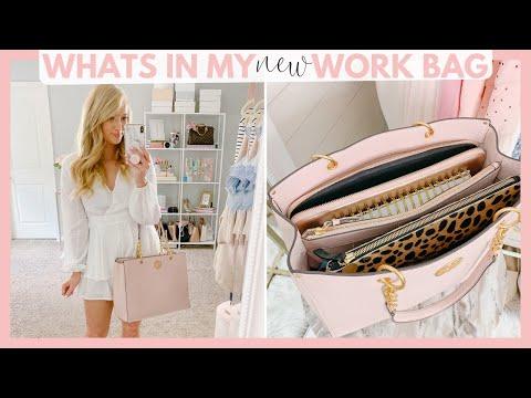 WHATS IN MY *NEW* WORK BAG!   Amanda John