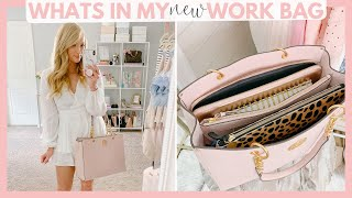 WHATS IN MY *NEW* WORK BAG! | Amanda John