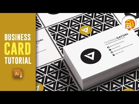 HOW TO MAKE A PROFESSIONAL BUSINESS CARD IN ILLUSTRATOR  | Satori Graphics