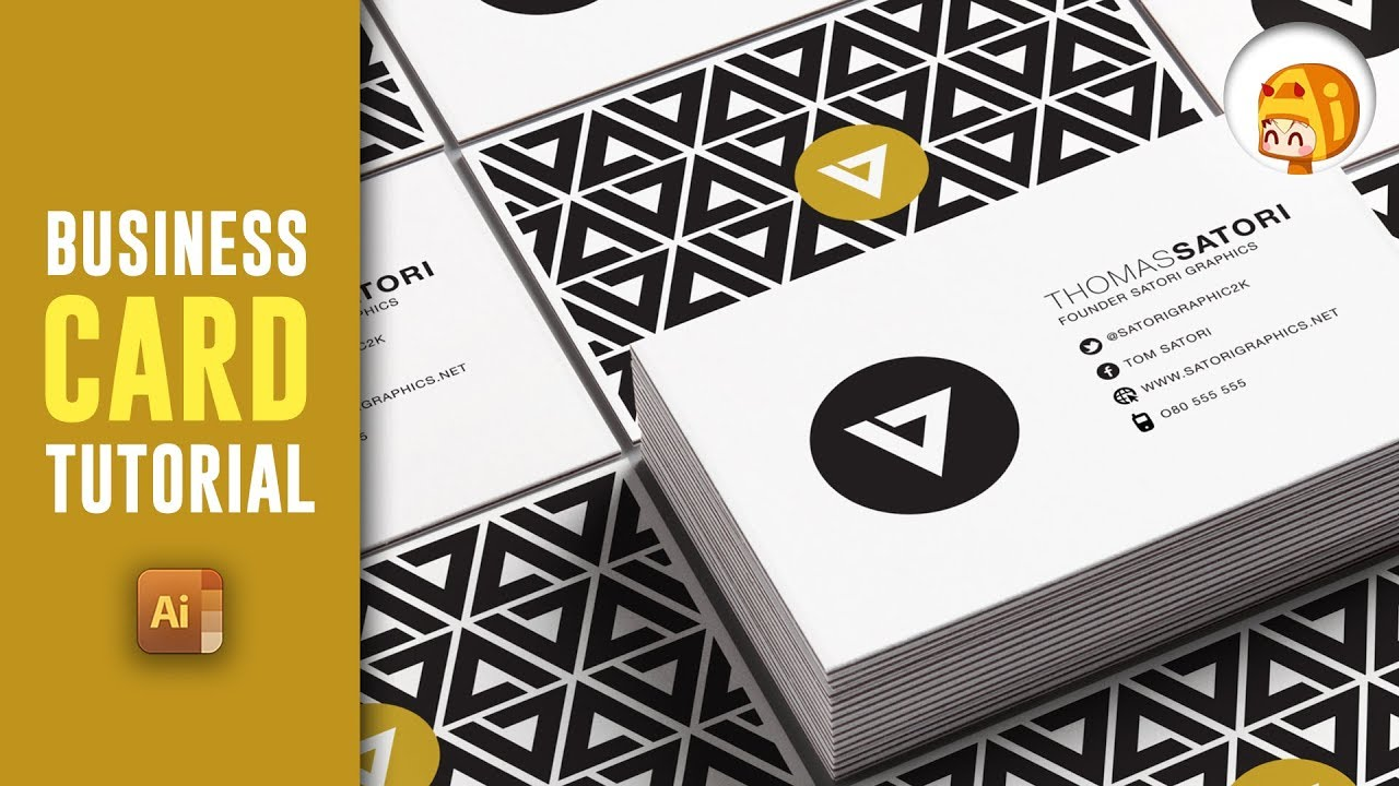 HOW TO MAKE A PROFESSIONAL BUSINESS CARD IN ILLUSTRATOR | Satori ...