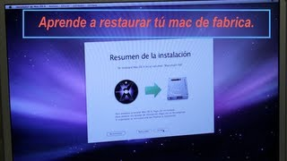 Aprende a restaurar/formatear de fabrica tú mac,iMac,mac book, notebook, mac book Pro,mac mini