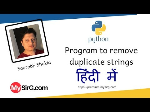 Python script to remove duplicate from a list of strings