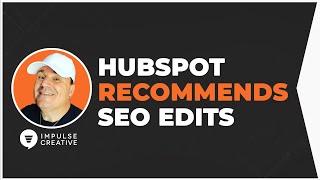HubSpot SEO Recommendations Home