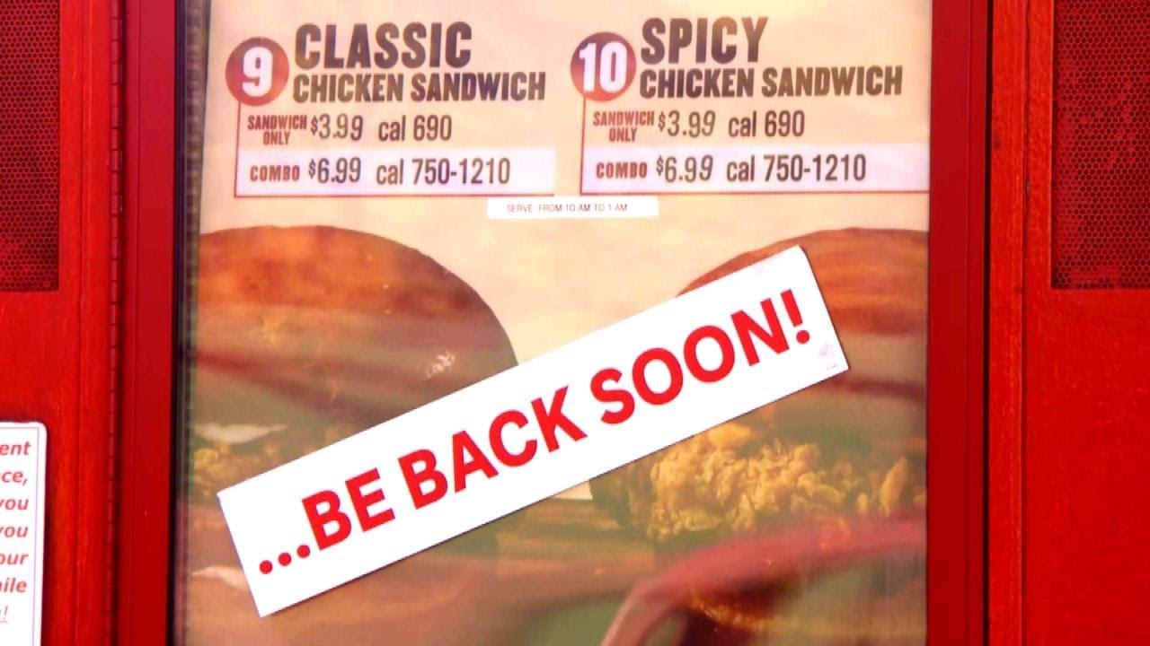 Chicken sandwiches return to Popeyes, restaurant says it can meet ...
