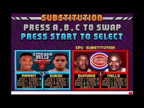 NBA Jam: Tournament Edition (Saturn)- Gameplay