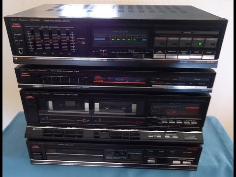 Fisher Sound System, CA-857 Amplifier, FM-857 Tuner, AD-857 CD, CR-W857 Deck