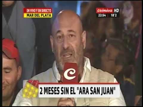 El conmovedor editorial de Santiago Cuneo junto a los familiares del ARA San Juan