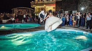 Wedding Pool Jumping. Свадебный прыжок в бассейн, а вам слабо?