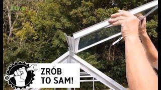 Budowa szklarni cz.4: Montaż szklanego okienka dachowego do szklarni ogrodniczej Vitavia