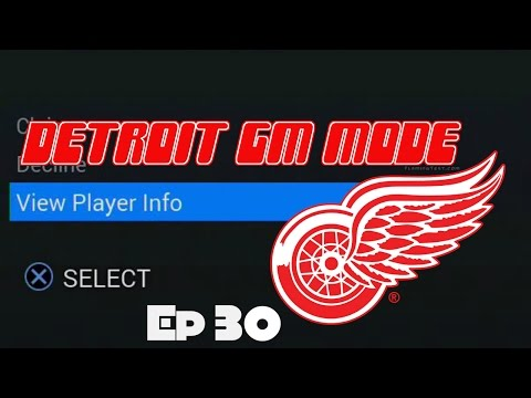 """NHL 16 Detroit GM Mode Commentary ep.30 """"BIG Waiver Claim"""""""