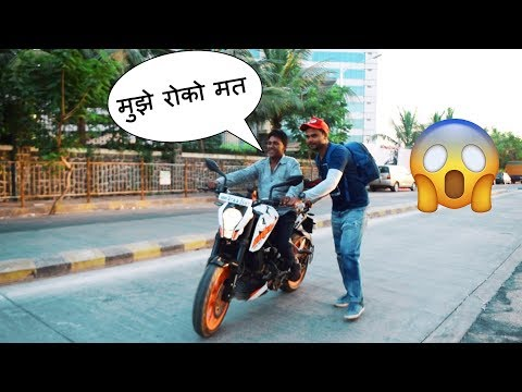 50 Years old Uncle Riding Ktm Duke 200 For The First Time | Awesome Reactions | Spreading Happiness