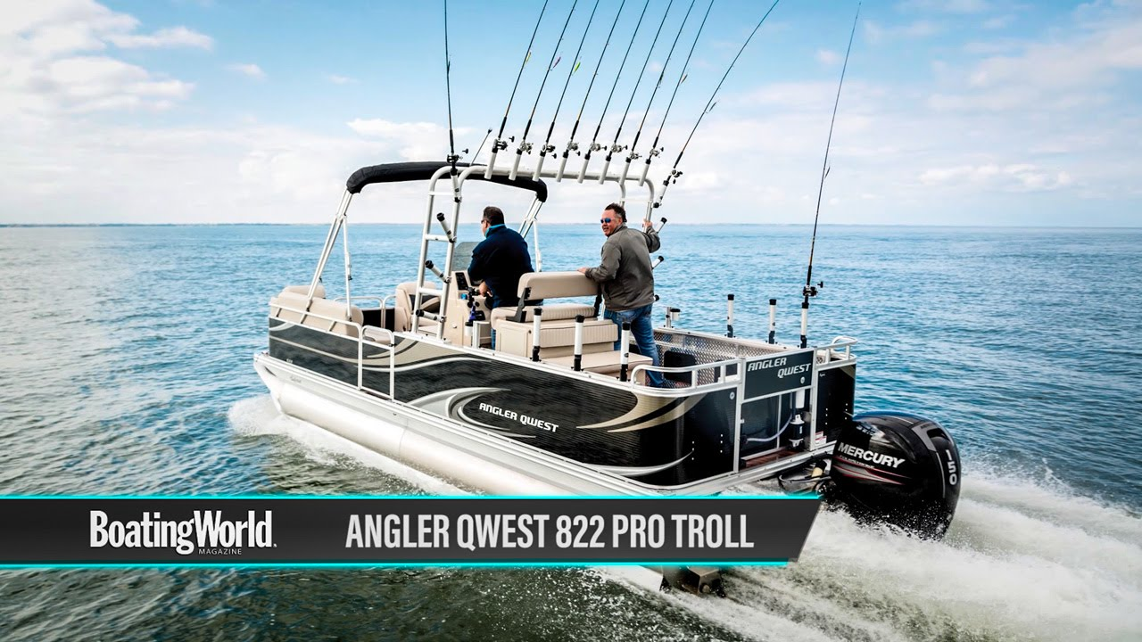 angler qwest 822 pro troll boat test youtube