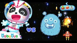 BabyBus Angkasa Panda Kecil | Astronot Ruang Angkasa Melawan Alien | BabyBus Game screenshot 2