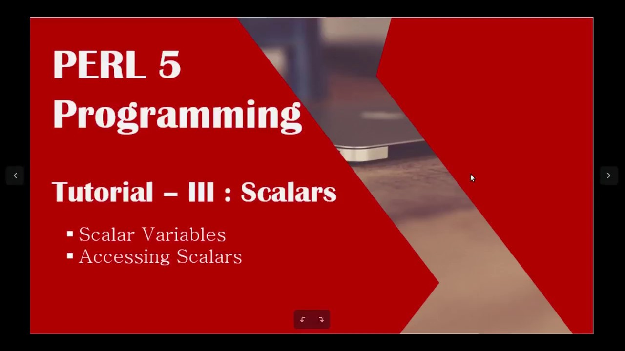 perl tutorial - iii   perl for beginners   perl scalar variables