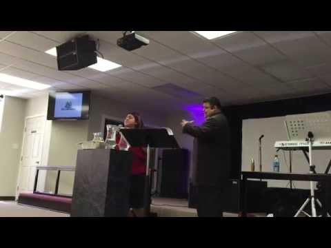 JENNIFER RODRIGUEZ SANDRIA PREACHING ON PALM SUNDAY 2015