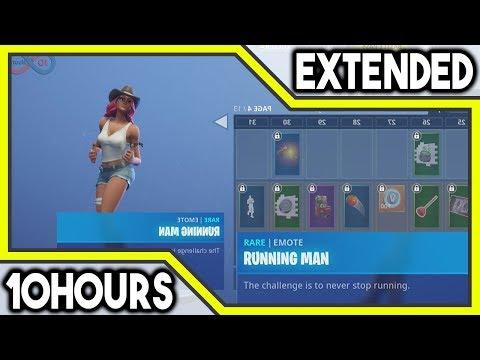Fortnite Running Man Emote 10 Hours
