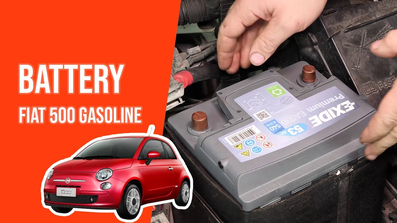 How To Replace The Car Battery Fiat 500 1 2 8v Youtube
