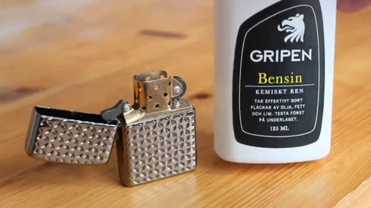 Zippo Armor With Alternative Lighter Fluid Gripen Bensin