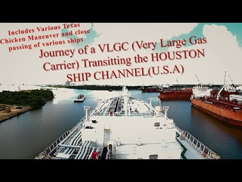 Journey of a MEGA SHIP (VLGC) transiting the HOUSTON SHIP CHANNEL || Mariner Biker - Rahul Chadha