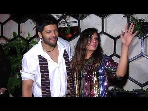 Richa Chadda Backless with Boyfriend