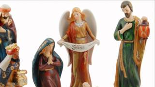 10 Piece Porcelain Nativity - 11 Inches