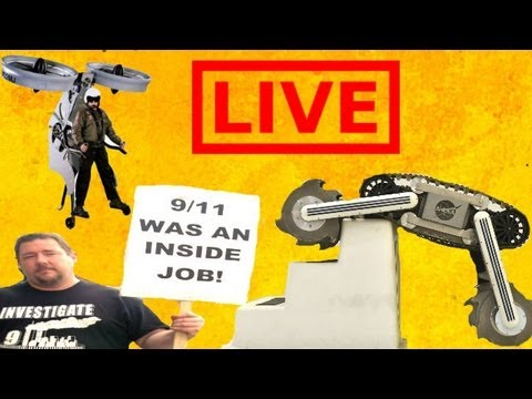 Home-made jet pack, graphine and a moon robot - Truthloader Investigates LIVE