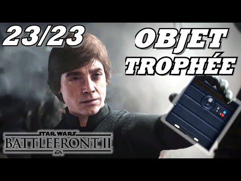 STAR WARS BATTLEFRONT 2: Tous Objets Trophées - 23/23 Objet-Trophée Localisation / Position
