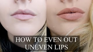 How To Even Out Uneven Lips | Fashion Influx thumbnail