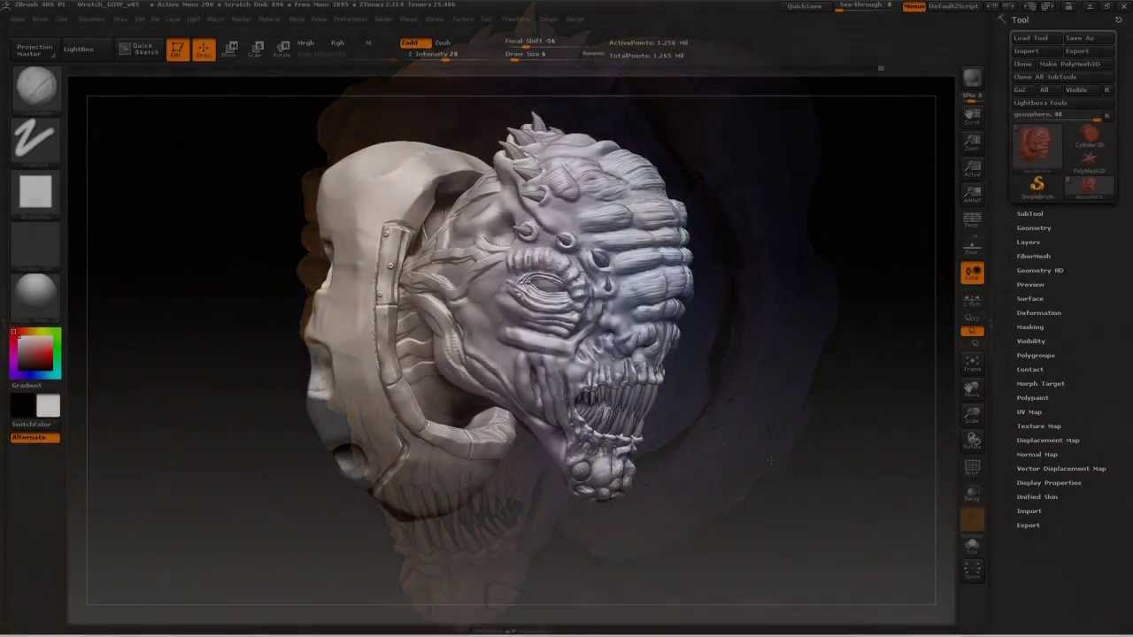 Meshing About Speed Sculpt Wretch Part 02 Gears Of War Youtube