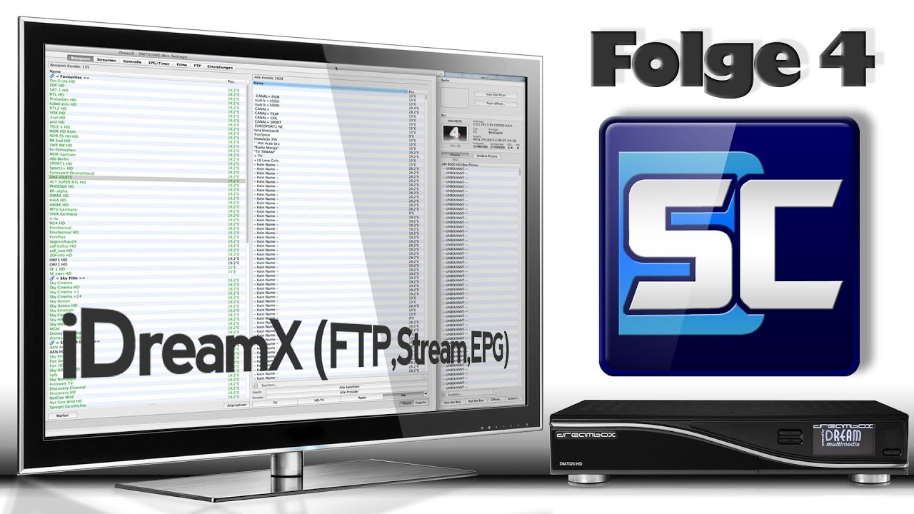 Folge 4 - iDreamX (MacOS X) - FTP, Streaming, EPG/Timer
