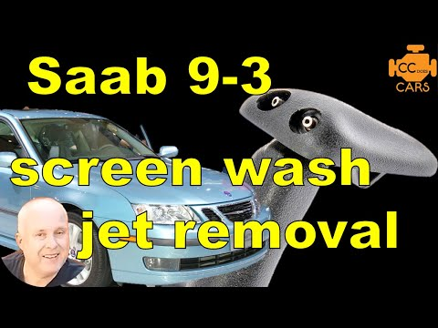 Saab 9-3 Windshield Washer Nozzle Replacement | Easy DIY