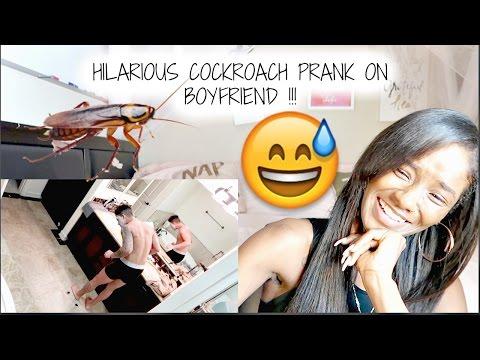 THE ACE FAMILY - HILARIOUS COCKROACH PRANK ON BOYFRIEND !!! (REACTION)