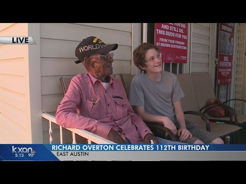 Friends, family and fans came to celebrate Richard Overton's 112th birthday