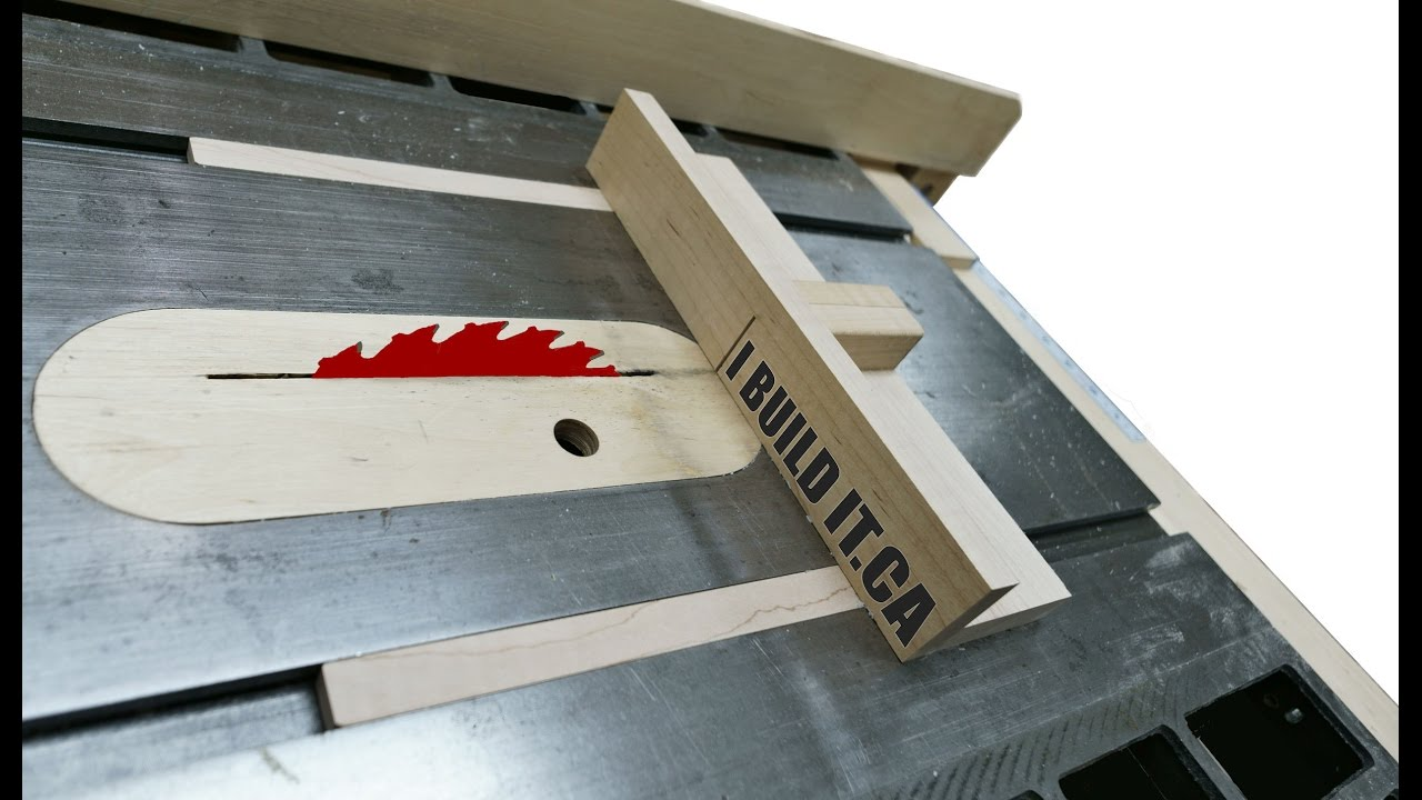Building the mini table saw sled doovi for Table saw sled