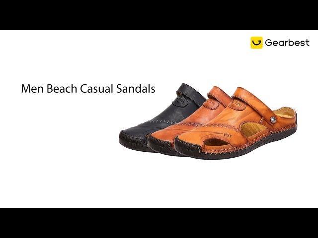 Sandálias Casuais Respiráveis Leves Super Confortáveis de Praia para Homens