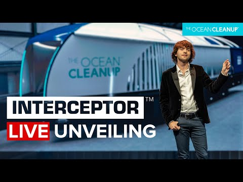 Boyan Slat unveils the Interceptor River Cleanup system | Cleaning Rivers | The Ocean Cleanup