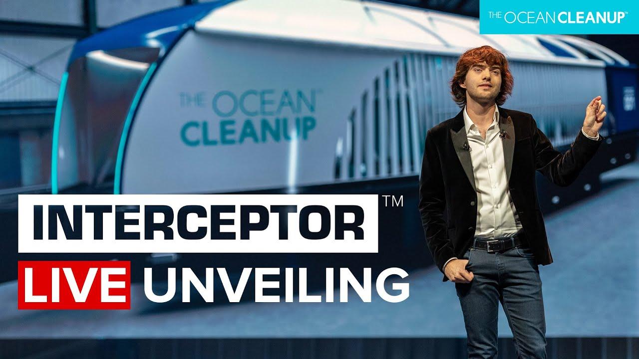 Boyan Slat unveils The Ocean Cleanup Interceptor