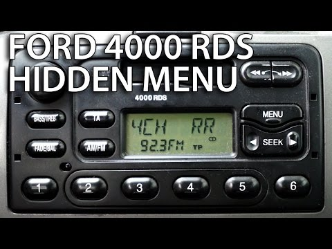 Ford 4000 RDS radio diagnostic mode and speakers test (hidden menu)
