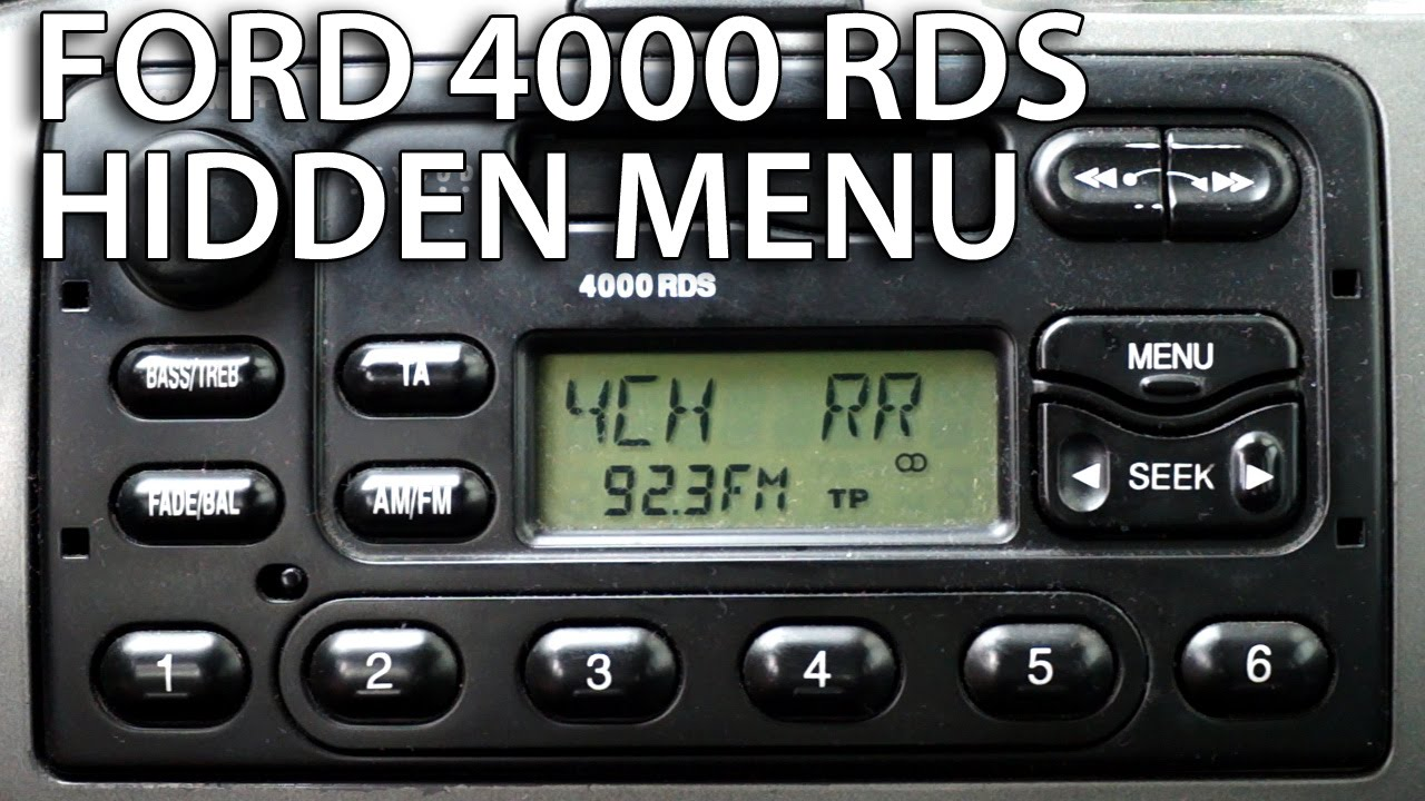 ford 4000 wiring diagram pictures tele picture rds radio diagnostic mode and speakers test (hidden menu) - youtube