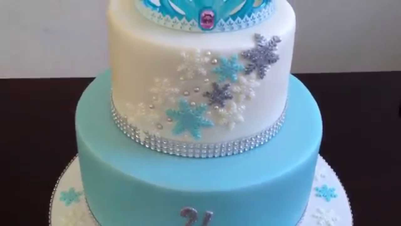 Elsa Crown Cake Youtube