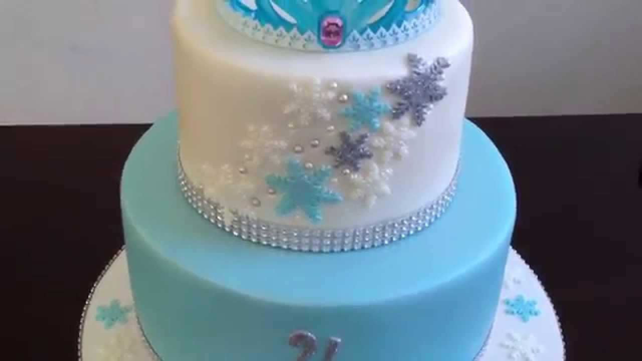 Elsa Crown Cake  YouTube