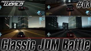 Need For Speed World: Classic JDM Battle (RX-7 FC3S vs. 2000GT-R C10 vs. 240ZG vs. AE86)