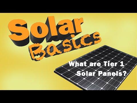 Solar Basics: What are tier 1 solar panels?